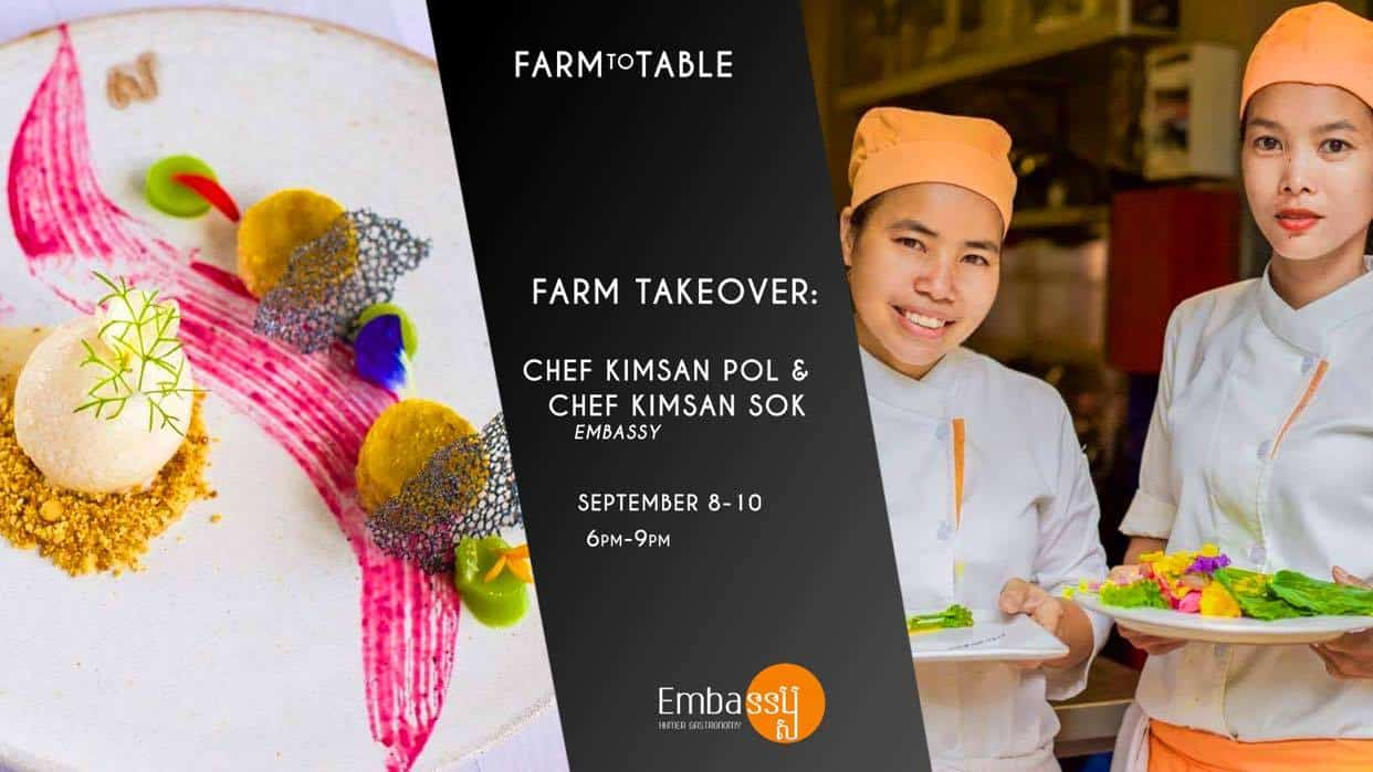 Embassy Restaurant is joining Farm to Table Event in Phnom Penh